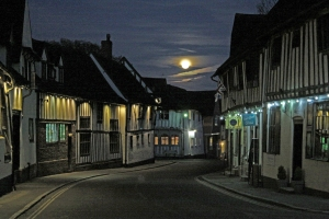 Laveham by moonlight