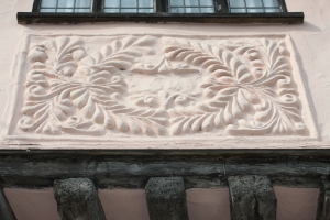 Pargeting on 85 Church St Lavenham