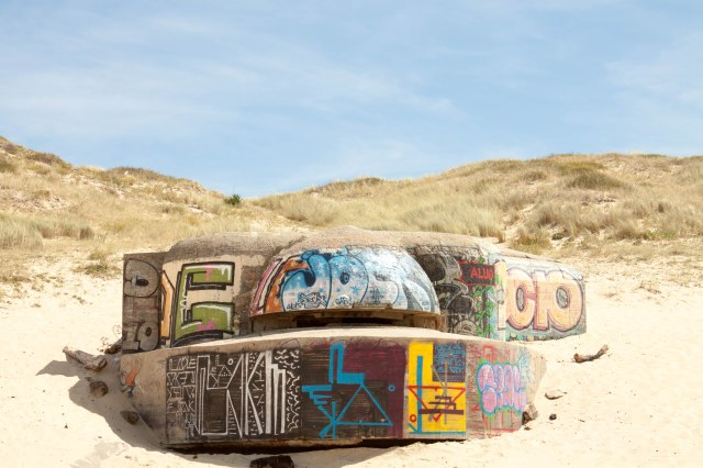 Beach Art 3 Cap Ferret 25 Aug 2014
