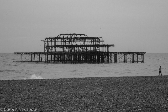 Burnt out Pier Brighton 17 Oct 2014 (1 of 1)