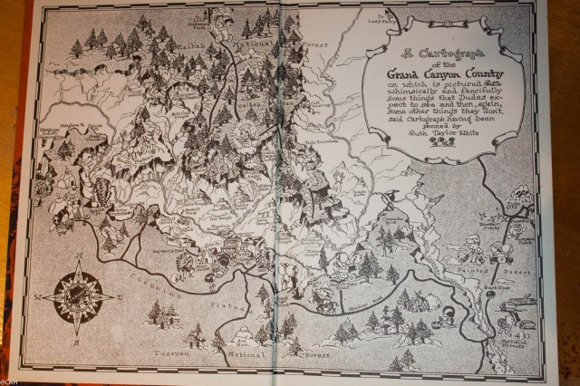 Map of Grand Canyon in 1935 Book (1 of 1)