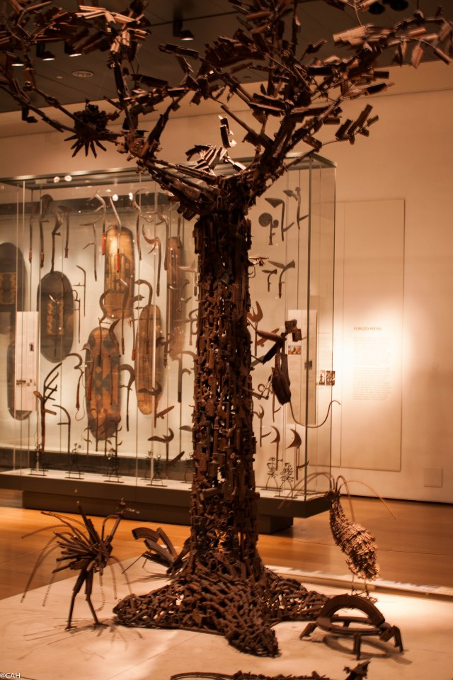 Tree made from weapons British Museum 15 Feb 2015 (1 of 1)