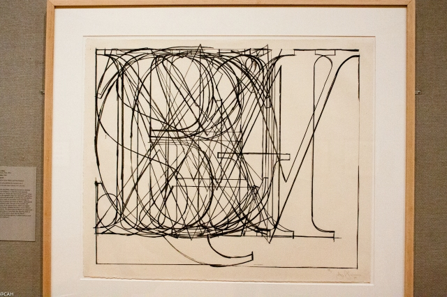 Jasper Johns Alphabet Met 6 Mar 2016 (1 of 1)