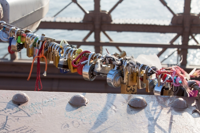 Padlocks Brooklyn Bridge  7 Mar 2016 (1 of 1)